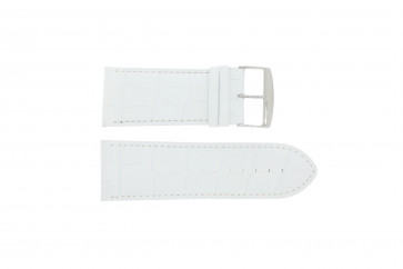 Correa de reloj Universal 305.09 Cuero Blanco 26mm