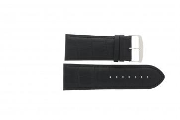 Correa de reloj Universal 305R.01 Cuero Negro 28mm
