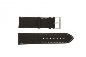 Correa de reloj 307.02 XL Cuero Marrón 20mm + costura blanca