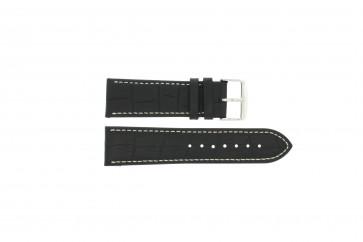 Correa de reloj Universal 308.01 Cuero Negro 20mm