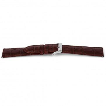 Correa de reloj de cuero genuino tipo cocodrilo marrón 14mm EX-G62