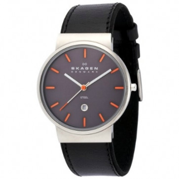 Correa de reloj Skagen 351XLSLBMO Cuero Negro 20mm