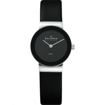 Correa de reloj Skagen 358SSLB Cuero Negro 14mm