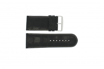 Correa de reloj de cuero genuino croco negro WP-61324.32mm