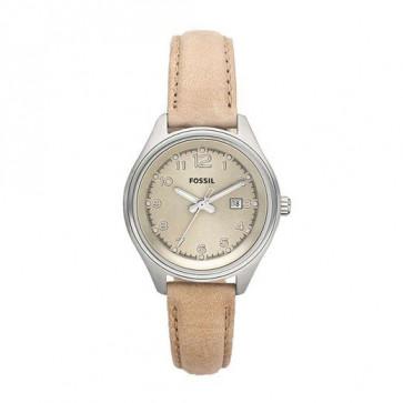 Correa de reloj Fossil AM4377 Cuero Beige 22mm