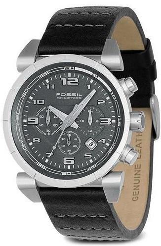 Correa de reloj Fossil CH2494 Cuero Negro 22mm