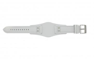Fossil correa de reloj CH2592 Piel Blanco 22mm