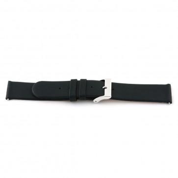 Correa de reloj de cuero genuino negra 20mm 800R01