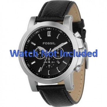 Correa de reloj Fossil FS4247 Cuero Negro 22mm