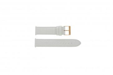Correa de reloj Guess W17516L1 Cuero Blanco 20mm