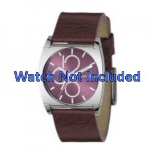 Correa de reloj DKNY NY3426 Cuero Burdeos 24mm