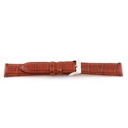 Correa de reloj de cuero genuino color coñac 16mm EX-G62