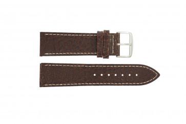 Correa de reloj I320 Cuero Marrón 24mm + costura blanca