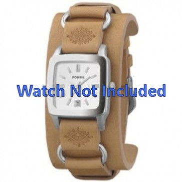 Correa de reloj Fossil JR8300 Cuero Marrón 16mm