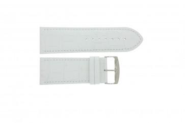 Correa de reloj Universal 305.09 Cuero Blanco 30mm