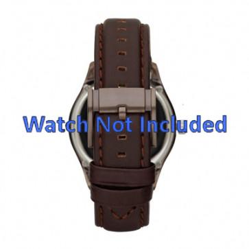 Fossil correa de reloj ME1123 Cuero Marrón oscuro 22mm + costura predeterminada
