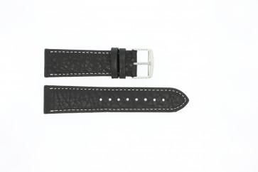 Correa de reloj Universal 307.01 XL Cuero Negro 24mm