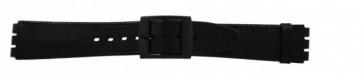 Correa de reloj Swatch (alt.) SC15.01 Cuero Negro 16mm