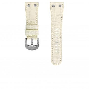 TW Steel correa de reloj TWB76 Cuero Marfil 26mm + costura blanca
