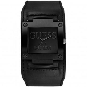 Guess correa de reloj W90025G2 Piel Negro 32mm