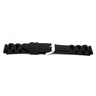 Correa de reloj Goma 18mm Negro EX K6 32 61 18