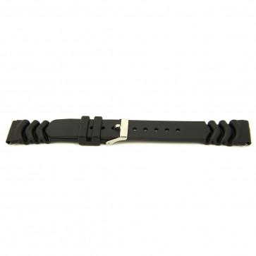 Correa de reloj Goma 20mm Negro EX 6