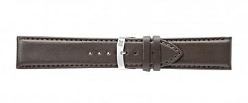Morellato correa de reloj Extra Napa X3395875032CR30 / PMX032EXTRAN30 Cuero Marrón oscuro 30mm + costura predeterminada