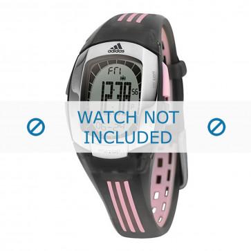Adidas correa de reloj ADP1638 Caucho / plástico Negro