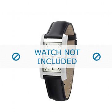 Armani correa de reloj AR-0103 Piel Negro 14mm