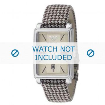 Armani correa de reloj AR-0135 Textil Marrón 20mm