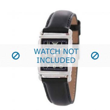 Correa de reloj Armani AR0207 / AR0101 / AR0121 / AR5601 / AR0604 Cuero Negro 18mm