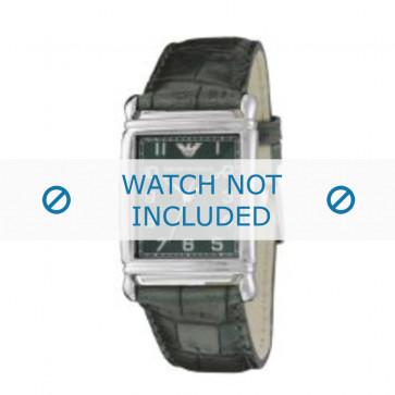 Armani correa de reloj AR-0215 Piel de cocodrilo Verde 22mm