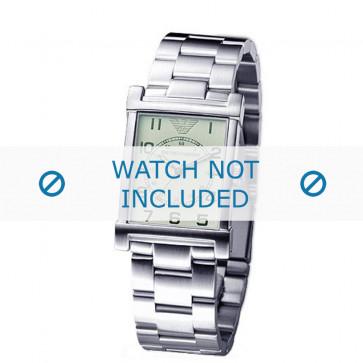Armani correa de reloj AR-0216 Acero Palteado 20mm