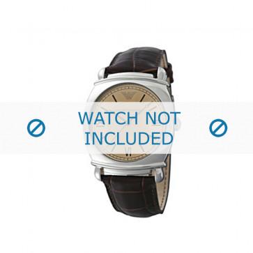 Correa de reloj Armani AR0264 Cuero Marrón 24mm