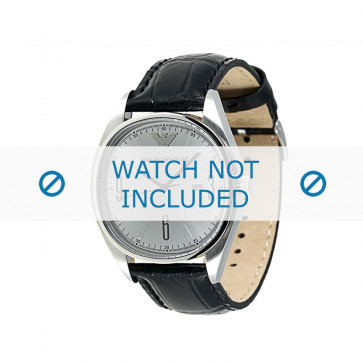 Armani correa de reloj AR-0311 Piel de cocodrilo Negro 22mm