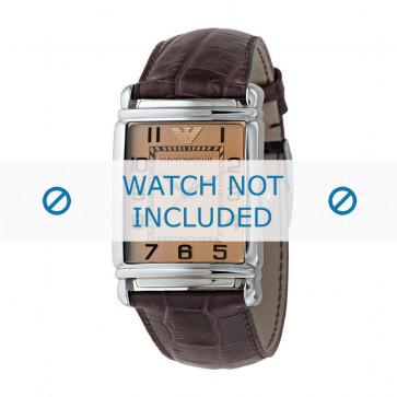 Correa de reloj Armani AR0403 Cuero Marrón 22mm