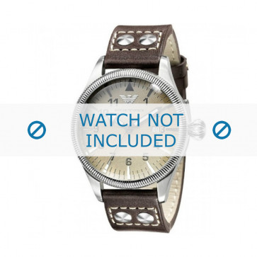 Correa de reloj Armani AR0513 Cuero Gris antracita 23mm