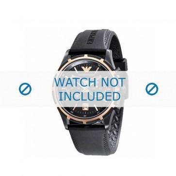 Correa de reloj Armani AR0584 / AR0595 Caucho Negro 23mm