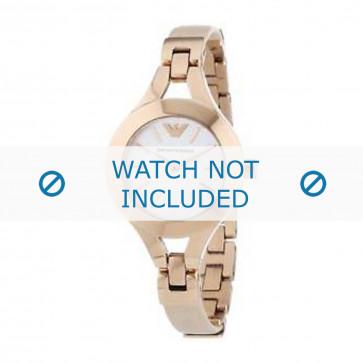Correa de reloj Armani AR7354 Cuero Crema blanca / Amarillento