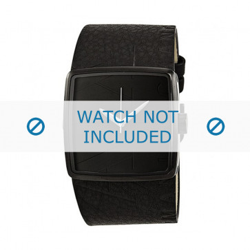 Armani correa de reloj AX-6002 Piel Negro 35mm