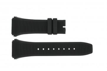 Correa de reloj Breil BW0381 / BW0377 / SNAD23P2 / F260053202 Caucho Negro 28mm