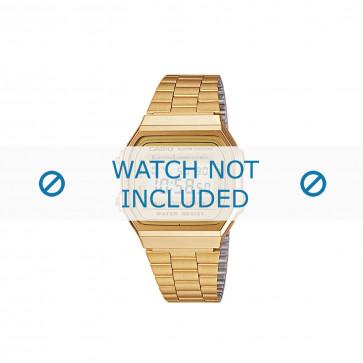 Casio correa de reloj A168WG-9EF / A168WG-9 Acero Dorado 18mm
