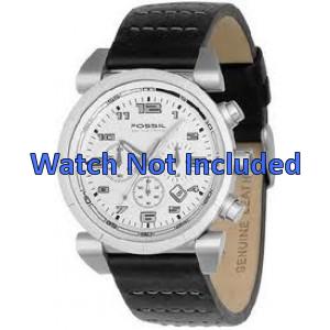 Correa de reloj Fossil CH2493 / CH2494 Cuero Negro 22mm