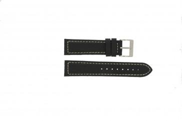 Correa de reloj Davis BB1020 Cuero Negro 22mm
