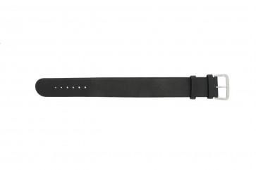 Danish Design correa de reloj IV13Q676 / IV12Q676 Cuero Negro 24mm