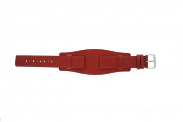 Davis correa de reloj B0223 Piel Rojo 20mm