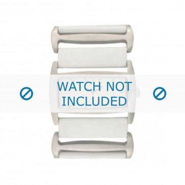 Correa de reloj Davis BB0755 Cuero Blanco 36mm