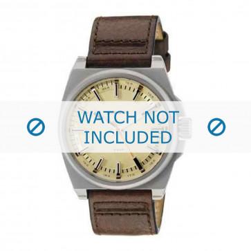 Diesel correa de reloj DZ1622 Cuero Marrón 24mm + costura marrón