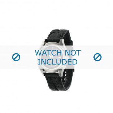 Diesel correa de reloj DZ2149 Cuero Negro 20mm + costura negro