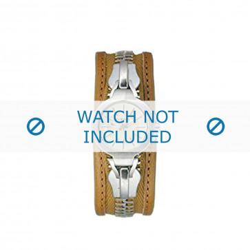 Diesel correa de reloj DZ5047 Cuero Marrón 26mm + costura marrón